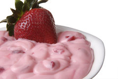 Strawberry yogurt Royalty Free Stock Images
