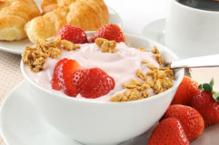 Strawberry yogurt Stock Photo
