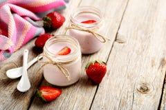 Free Strawberry Yogurt Stock Images - 66800404