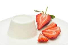 Strawberry yogurt background Stock Image