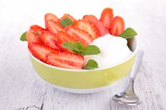Strawberry and yogurt Royalty Free Stock Image