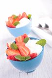 Strawberry and yogurt Royalty Free Stock Image