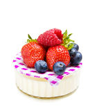 Strawberry and yogurt dessert royalty free stock images