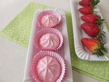 Strawberry yogurt dessert Royalty Free Stock Images