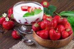 Strawberry Yogurt Dessert Royalty Free Stock Photos