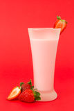 Strawberry yogurt drink Royalty Free Stock Image