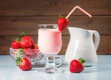 Strawberry yogurt Stock Photo