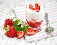 Strawberry Yogurt Stock Photography
