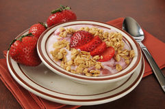 Strawberry yogurt parfait Royalty Free Stock Photo