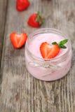 Strawberry yogurt Stock Image