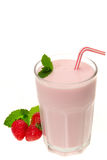 Strawberry yogurt smoothie drink Stock Image