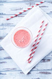 Strawberry and yogurt smoothie in a glass Royalty Free Stock Photography