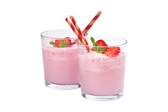 Strawberry Yogurt Smoothie Royalty Free Stock Photo