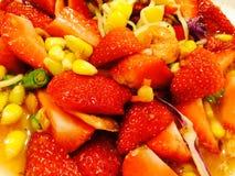 Strawberry. Yummy delicious pokpok chili Royalty Free Stock Photo