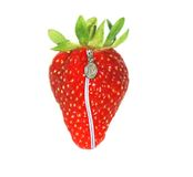 Strawberry with zip Royalty Free Stock Images