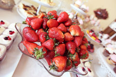 Strawberryes on a plate Royalty Free Stock Photos
