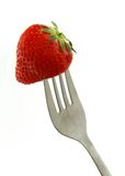 strawberryfork royaltyfri foto