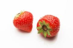 2 strawberrys на белизне Стоковое Изображение RF