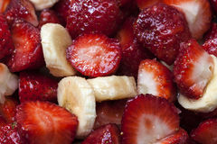 Strawberrys and bananas Royalty Free Stock Photography