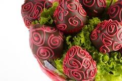 Strawberrys i czekolada Zdjęcia Royalty Free