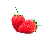 Strawberrys isolate on white backgorund Royalty Free Stock Photo