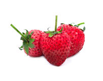 Strawberrys isolate on white backgorund Royalty Free Stock Photography
