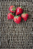 Strawberrys on lace surface. Royalty Free Stock Image
