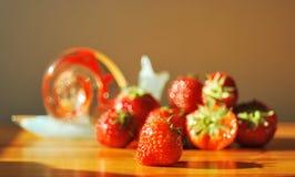 Strawberrys säsongsbetonade frukter Arkivfoto