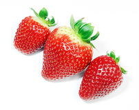 Strawberrys on white Stock Photos