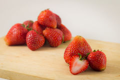 Strawberrys on wood  on white background. Stock Photography