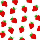 Strawberrys wzór Obraz Royalty Free