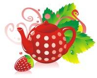StrawberryTea Stock Afbeeldingen