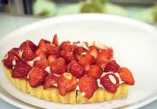 Strawbery饼 免版税库存照片