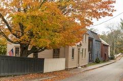 Strawbery Banke museum i Portsmouth, New Hampshire, USA arkivbilder