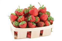 Strawbery basket Stock Photography