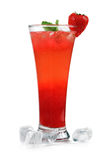 Strawbery cocktail. Stock Photos