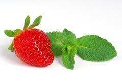Strawbery y menthe Fotografía de archivo libre de regalías