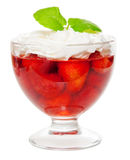 Strawberyy jelly dessert Stock Images