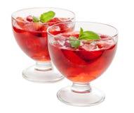 Strawberyy jelly dessert Royalty Free Stock Photo
