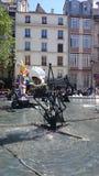 Strawinsky喷泉在巴黎,法国 库存图片