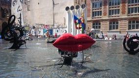 Strawinsky-Brunnen in Paris, Frankreich stockfotografie