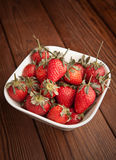 Strawrberries in a plate Royalty Free Stock Photo