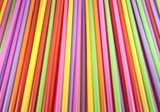 Straws. A colorful of straws background Royalty Free Stock Photos