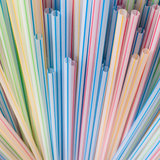 Straws. A close-up of a collection of colourful drinking straws royalty free stock photo