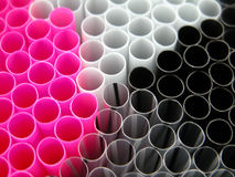 Straws. Background of sippers Stock Photos
