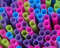 Straws. Multi-Colored Straws stock photo