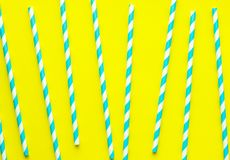Straws for birthday or summer party in pattern, trendy vivid background. Straws for birthday or summer party in pattern, trendy vivid background Royalty Free Stock Image