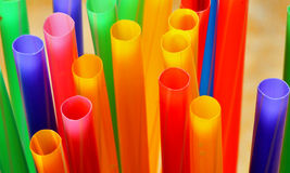 Straws. Bunch of colorful drinking straws in vibrant colours Stock Images