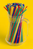 Straws in carafe Royalty Free Stock Images