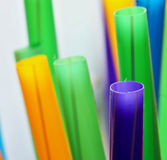 Straws. Close up of a plastic drinking straws in vibrant colors Royalty Free Stock Image